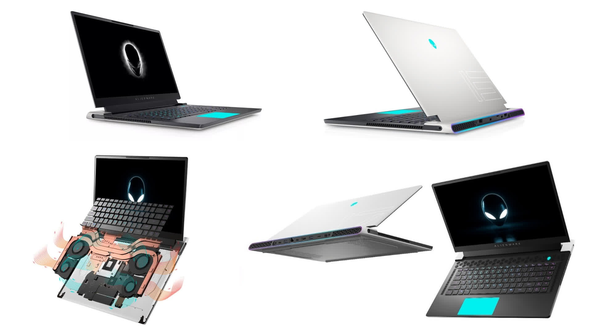 Alienware's new x15 gaming laptop boasts a Razer-thin profile with a quad fan cooling system